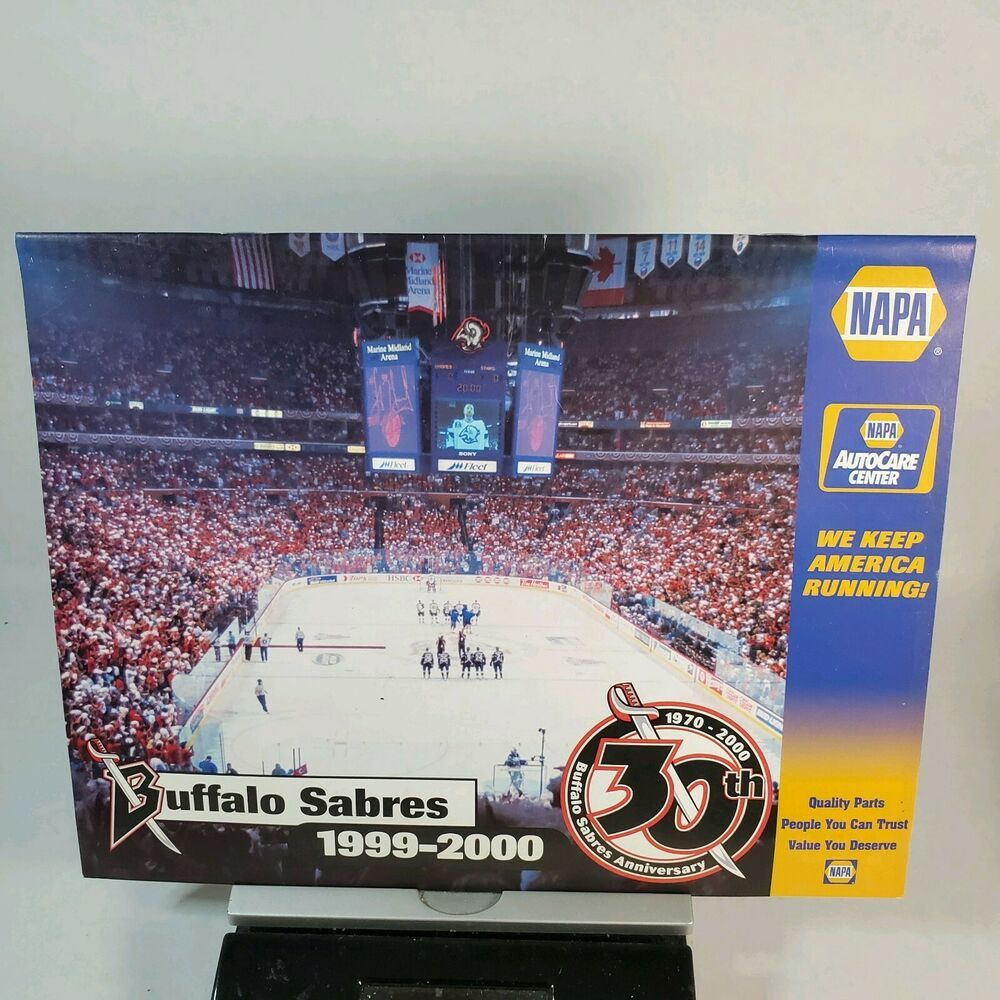 Buffalo Sabres 1999 2000 Game Calendar 30th Anniversary