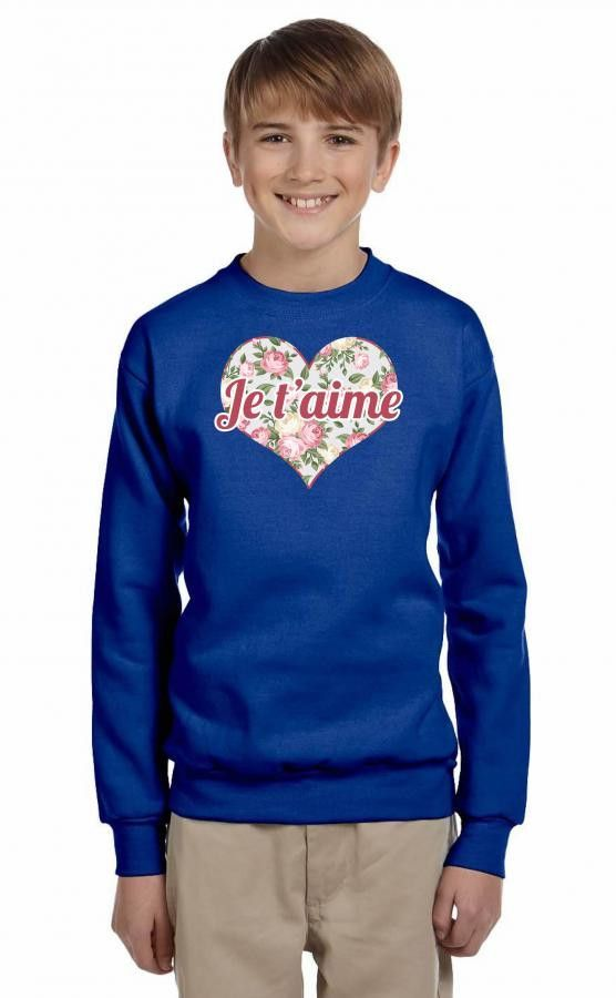 je taime 2 Youth Sweatshirt