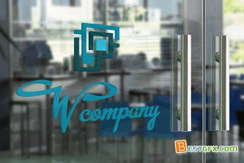 Glass Door Logo Mockup Template PSD Free Download AE Project - Web template torrent