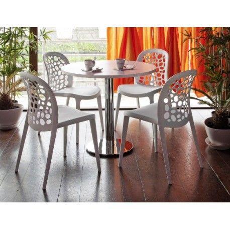 Mesa rendoda para cocina con 4 sillas. Mesas de diseño de comedor ...