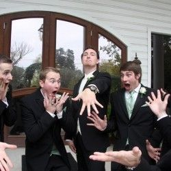 Hysterical.... Legitimately the best groomsmen shot to date