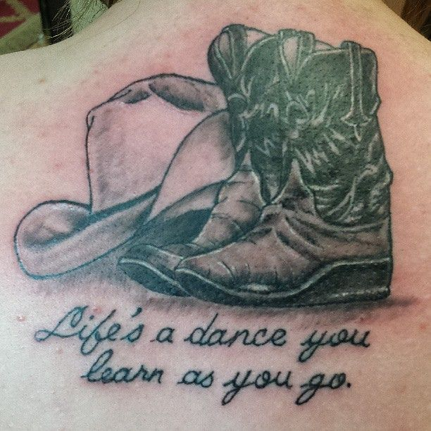blackandgrey cowboy boots and hat by deonya at bodytags tattoo rh pinterest com boat tattoos for men book tattoos
