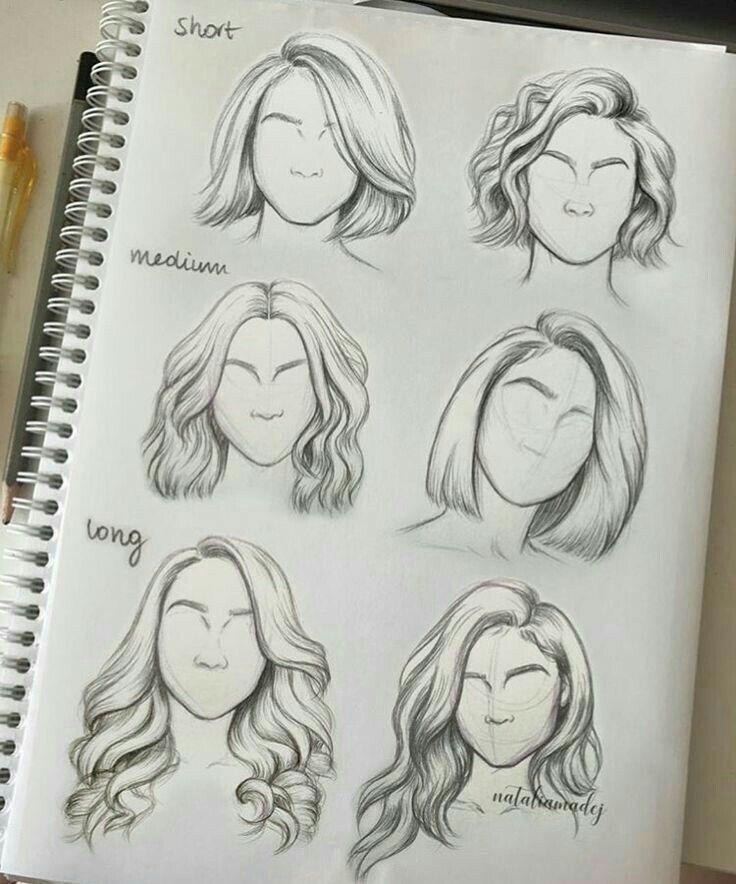 Flowing Hair Drawings Sketches Art Tutorials