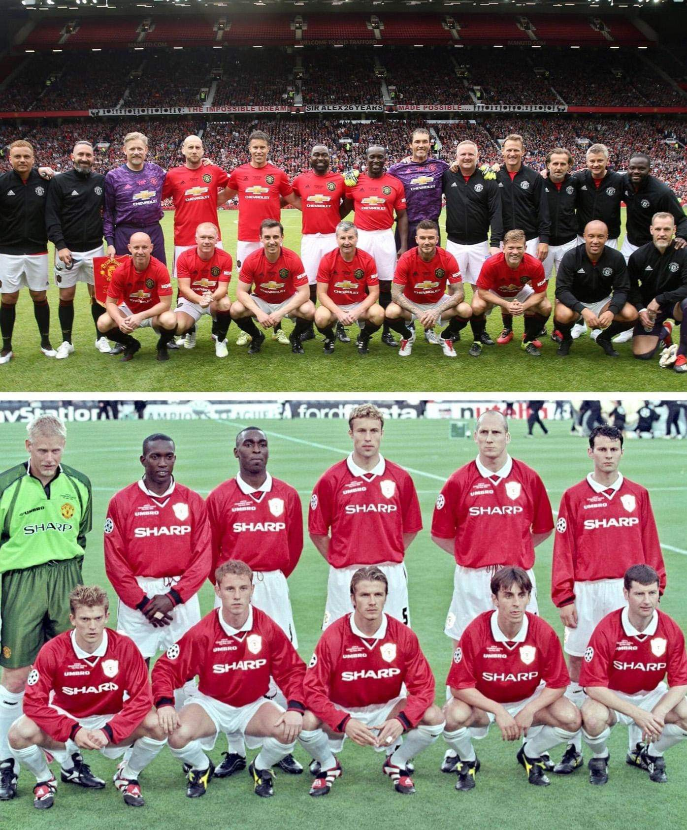 Now And Then Treble99 The Treble Reunion 26 5 2019 Ko 3 Pm Old Trafford Manchester United Football Club Manchester United Wallpaper