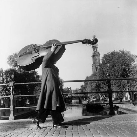 by Ben Meerendonk, Bass on the Prinsengracht, Amsterdam, 1951