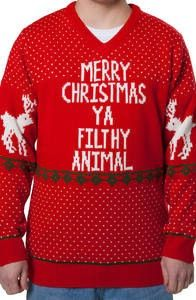 Filthy Animal Home Alone Christmas Sweater