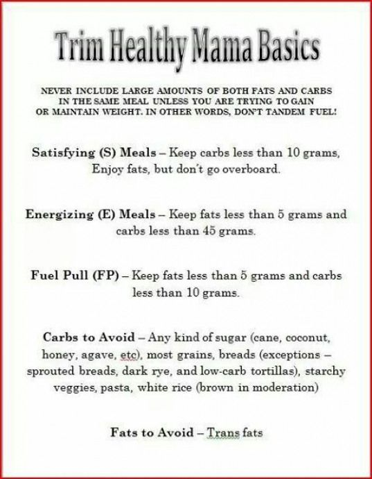 Thm Meal Plan Info Trim Healthy Mama Recipe Trim Healthy Mama Diet Trim Healthy Mama Meal Plan