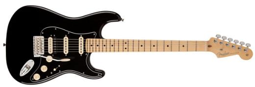 USA Stratocaster Pro HSS Maple with Gig Bag - Black - Long & McQuade -   Fender