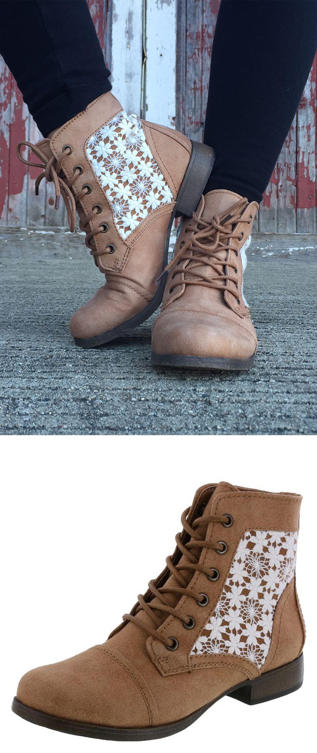 2a349bec30c19d Cognac Crochet Mountain Boots