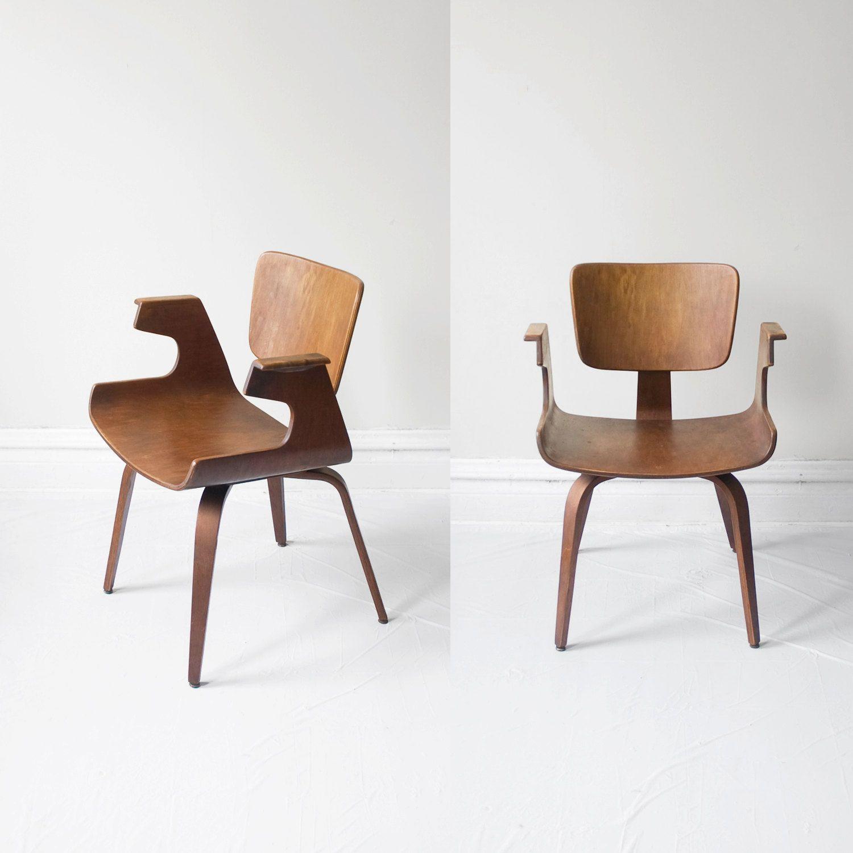 Walnut Bentwood Sculptural Arm Chair