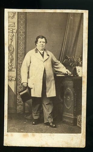 CDV Carte De Visite Chubby Victorian Gentleman Fashion Photo Tate Of Sheffield 1800s