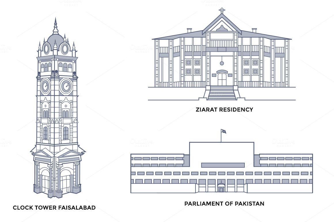 Line Drawing Of Quaid E Azam : Pakistan landmarks pinterest