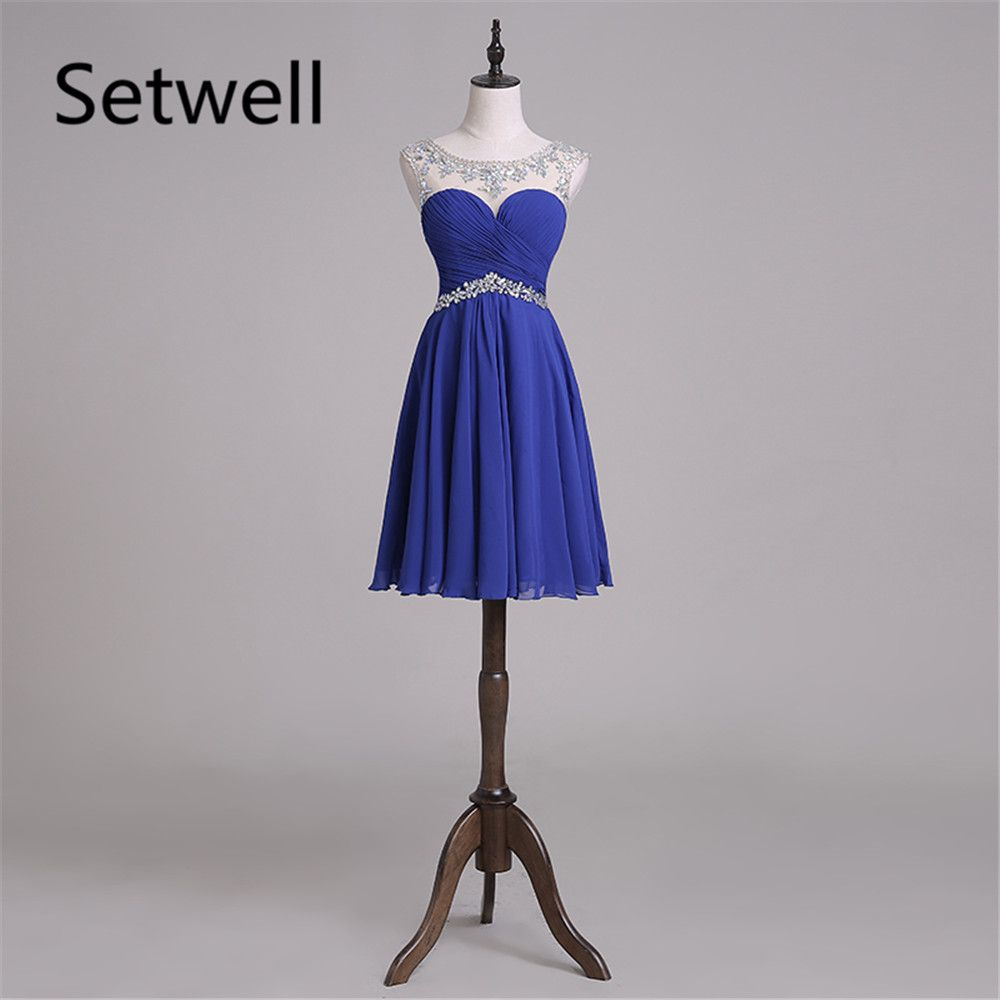 Click to buy ucuc setwell elegant royal blue prom dresses sequin