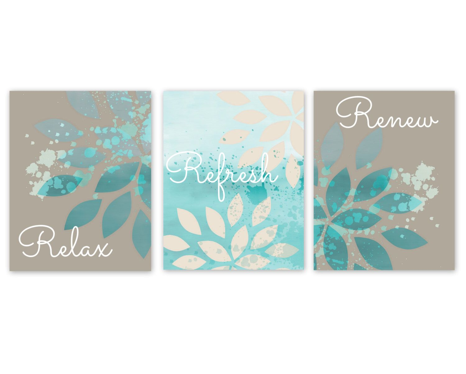 bathroom wall decor taupe teal bathroom decor turquoise bathroom art bathroom wall art home decor 5x7 8x10 11x14 unframed