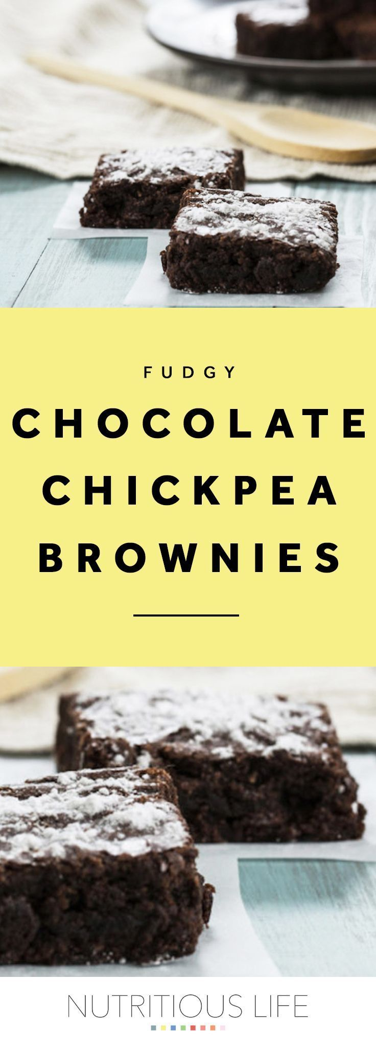 Fudgy Chocolate Chickpea Brownies Recipe in 2020