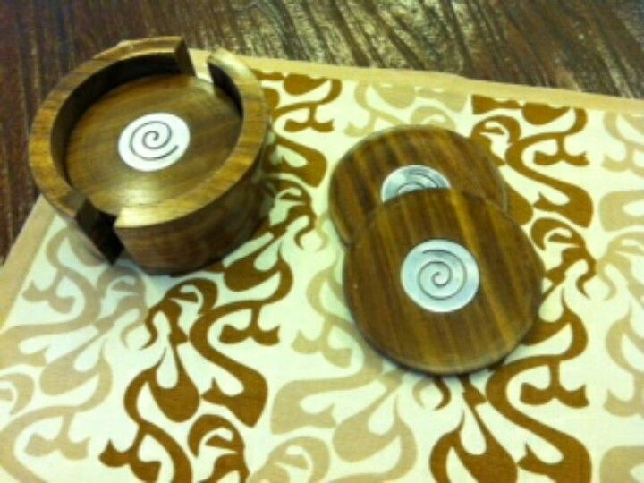 the wooden swirls coasters