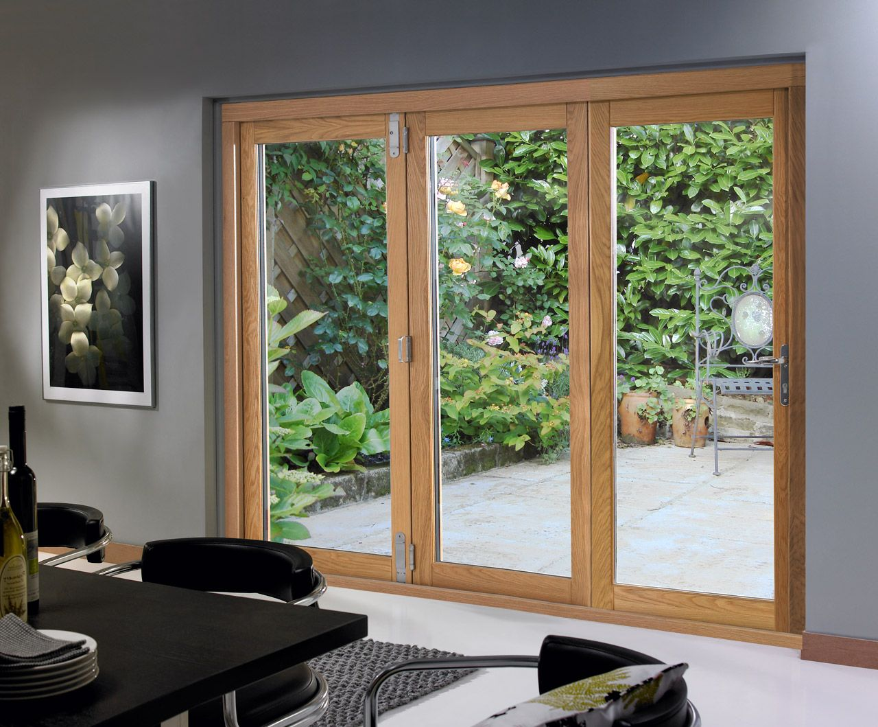 Sliding glass patio doors for Exterior door with sliding window