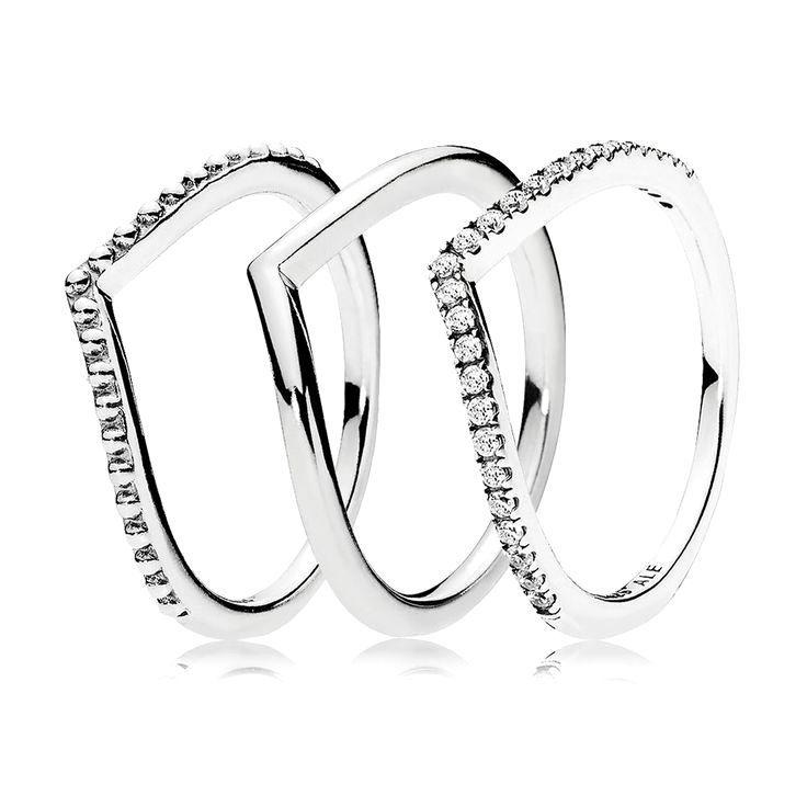 Wishbone Ring Stack Pandora Jewelry Us Пандора
