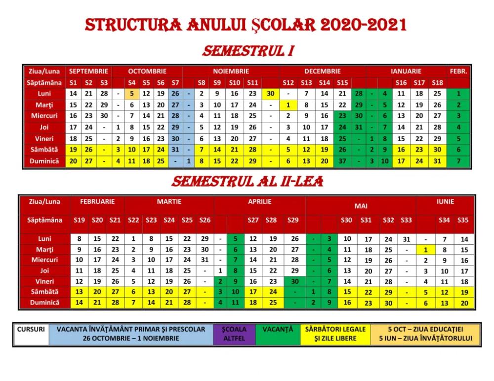 Calendar 2021 Zile Lucratoare - CALENDARSO