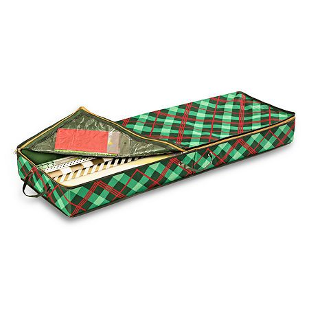 Honey-Can-Do Gift Wrap Organizer, Color: Red Green Plaid - JCPenney