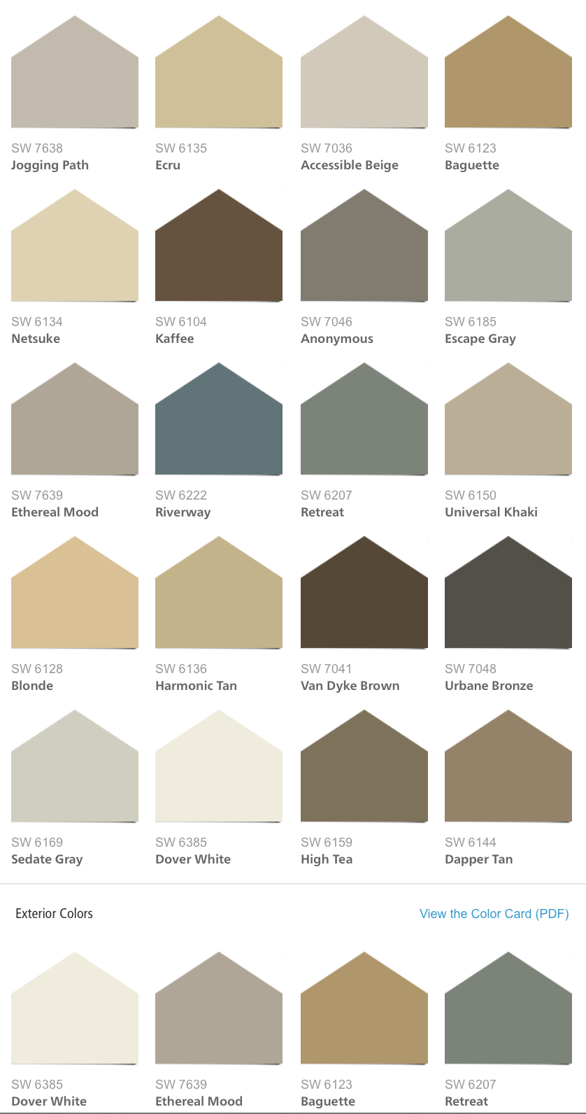 Sherwin williams hgtv home neutral nuance color palette for Neutral shades of paint
