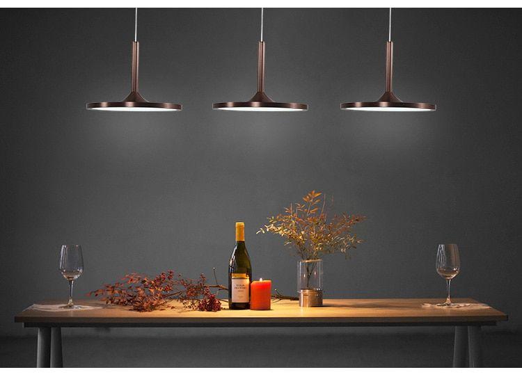 Modern Brown Led Pendant Light 3 Lights Pendant Lamp Industrial