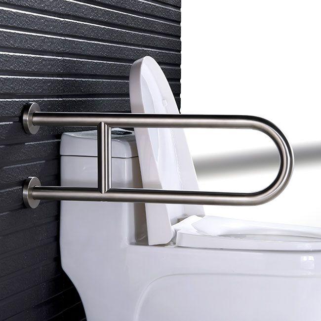 Handicap Toilet U Shape Grab Bar With Leg Support Handicap