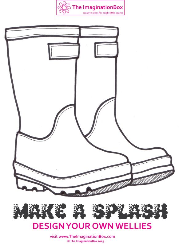 Make a splash this Spring design your own funky wellies