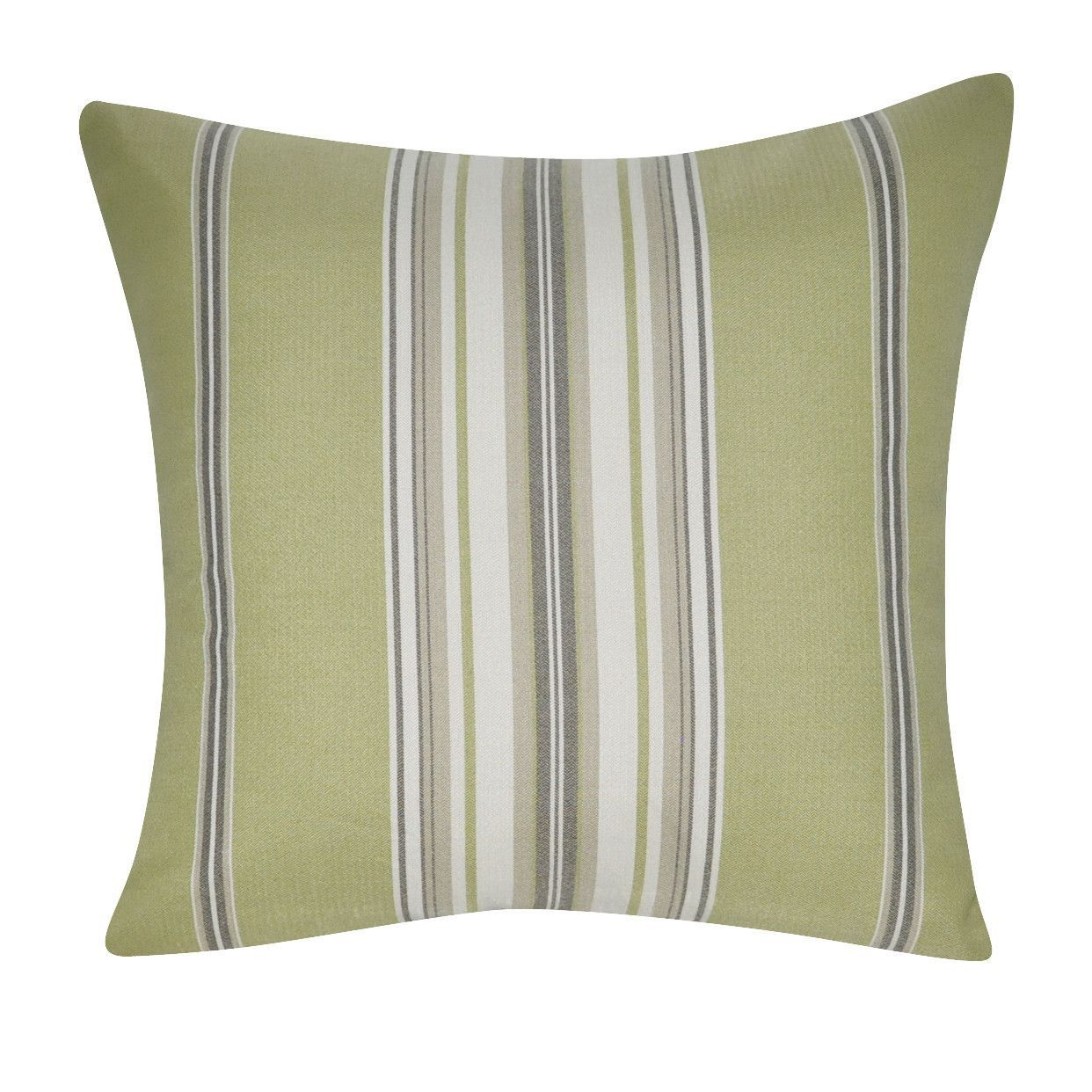 "21"" x 21"" Light Green Stripe Decorative Pillow P0191-2121P"