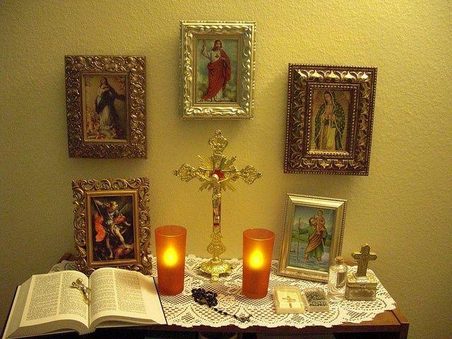 Catholic Altar At Home