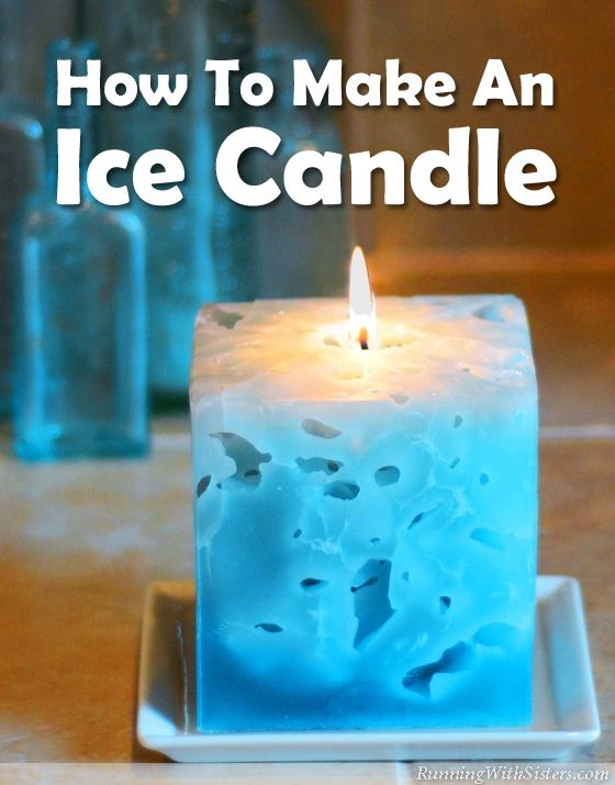 how to make an ice candle wax leaves and diy candles. Black Bedroom Furniture Sets. Home Design Ideas