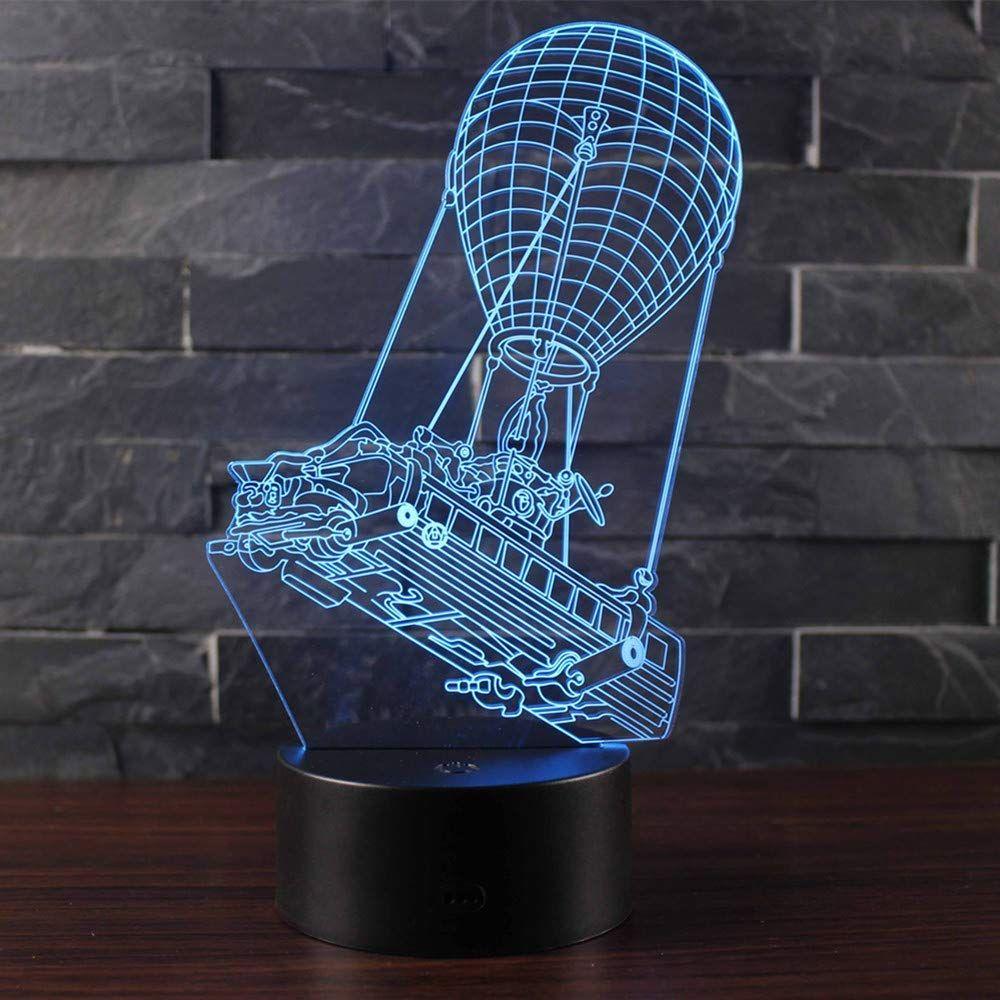 3D illusion Motorrad LED Schreibtisch lamp 7 Farbe change Touchscreen Schalter