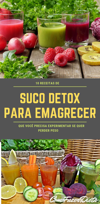 Como fazer dieta detox para emagrecer