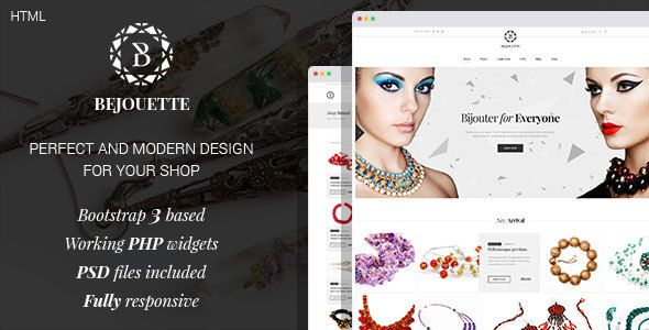 bejouette handmade jewelry designer html template download theme