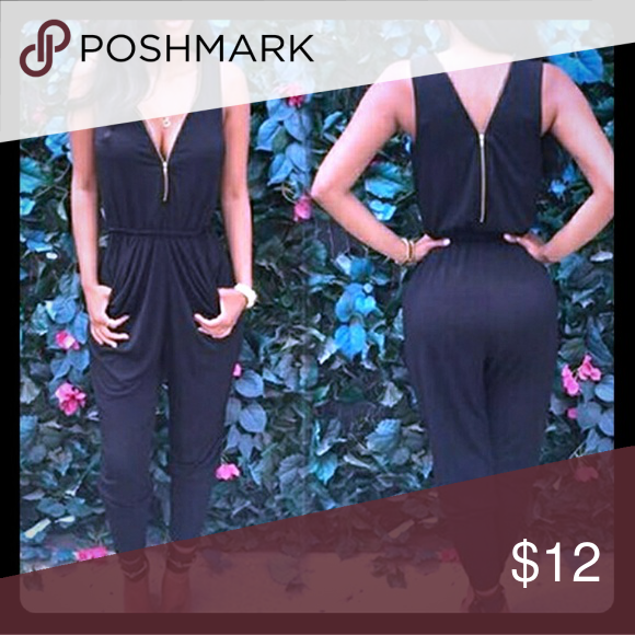 Black Soft Jumpsuit S Perfect For Summer, Black With