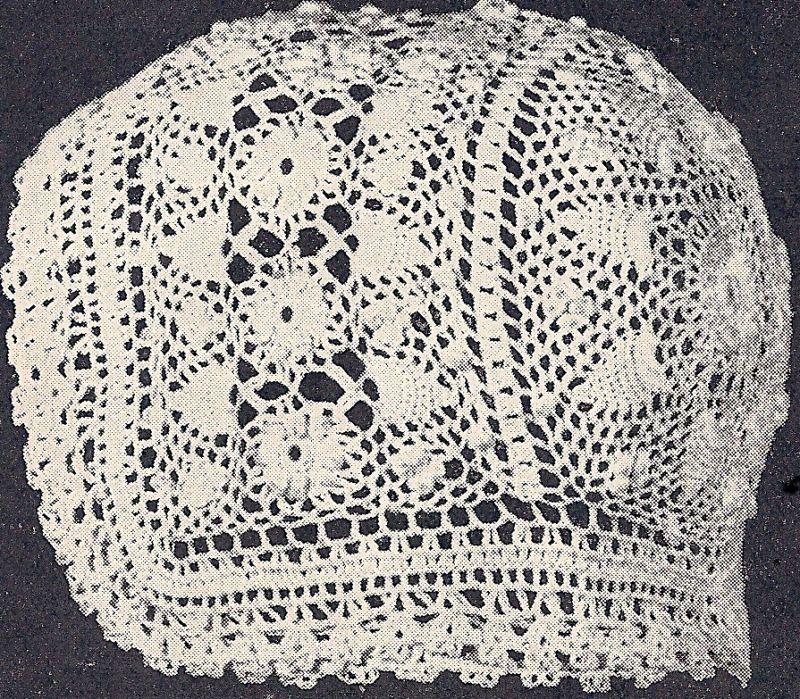 Vintage Antique Crochet PATTERN to make Baby Cap Hat Bonnet ...
