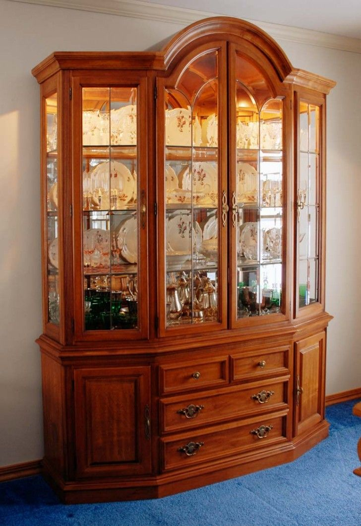 Excellent Teak Wood Display Cabinet With Handmade Detail And Veneer Finish  Also Glass Structure And Shelves As Well As Recessed Lighting Inside For  Living ... Part 88