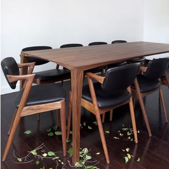 Johansen TableWalnut Great Dane Furniture MelbourneFurniture