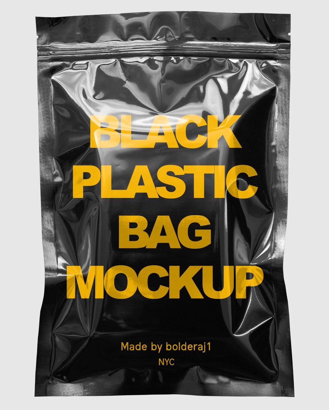 Download Black Plastic Bag Mockup Plastic Bag Design Plastic Bag Packaging Bag Mockup