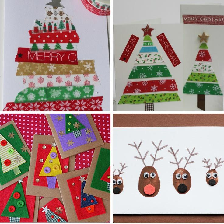 Christmas Card Making Ideas For Children Part - 31: 11 Totally Adorable Homemade Christmas Cards For Kids To Make For Grandma!