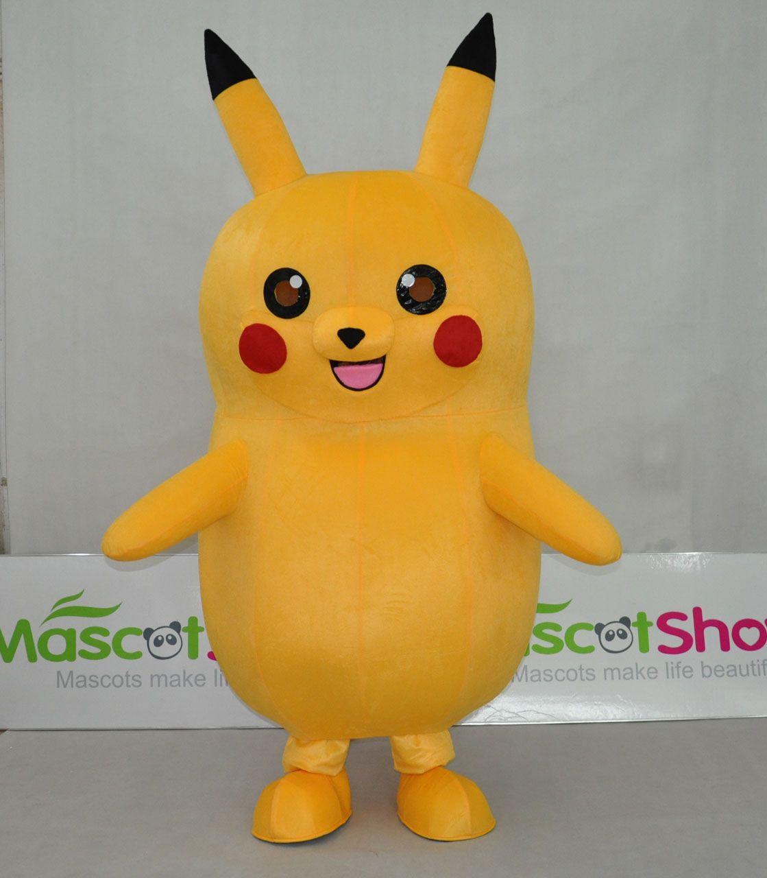 pokemon go pikachu adulte deguisement costumes jaune mascotte pas cher. Black Bedroom Furniture Sets. Home Design Ideas