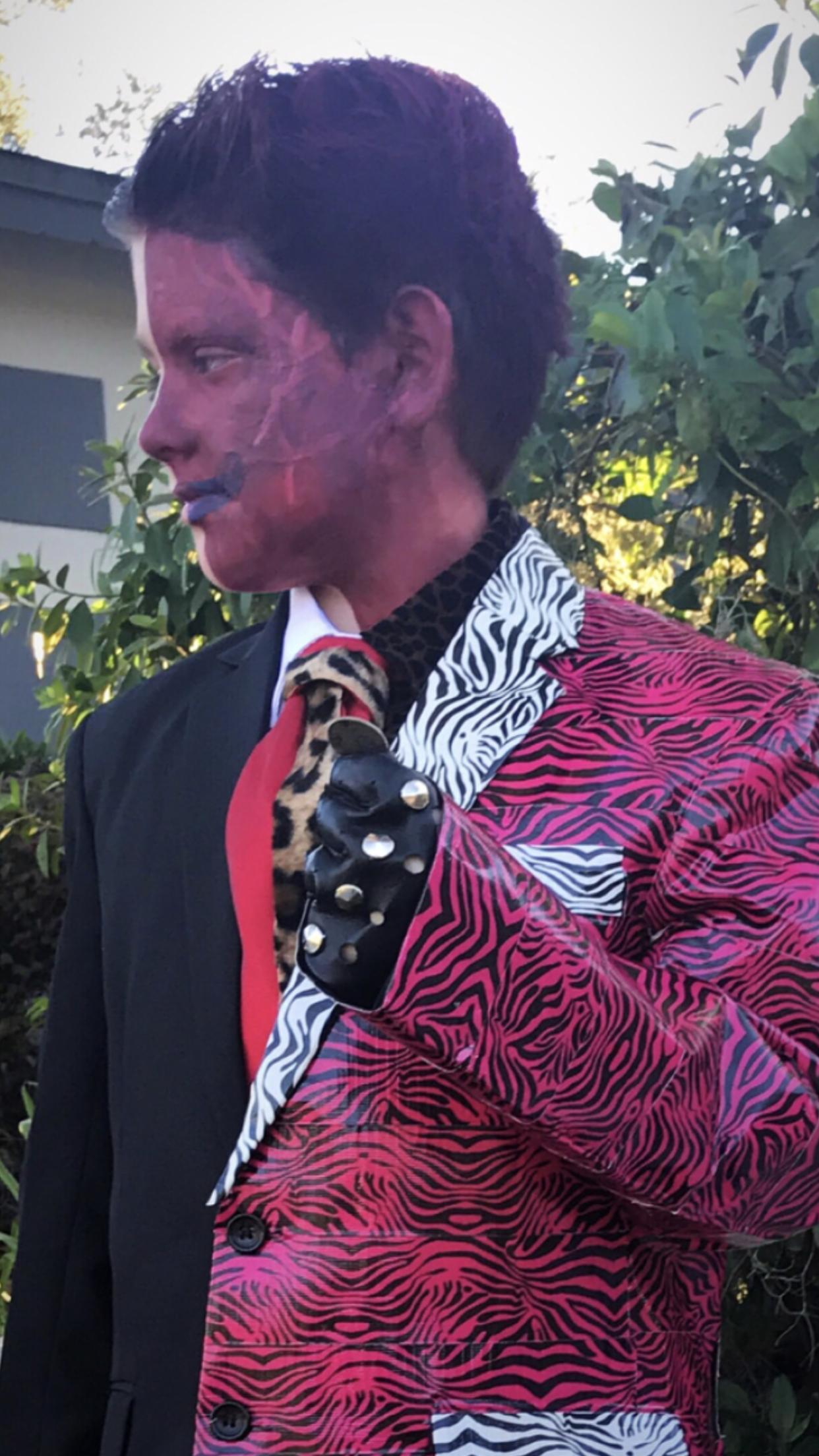 2 Face Halloween Costume DIY Boys Batman Themed