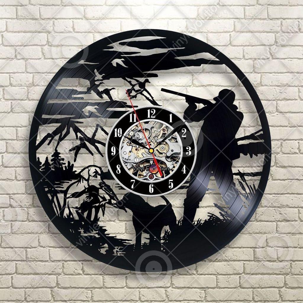 Ganja Leaf Vinyl Wall Clock Handmade Art Decor Your Room Original Gift