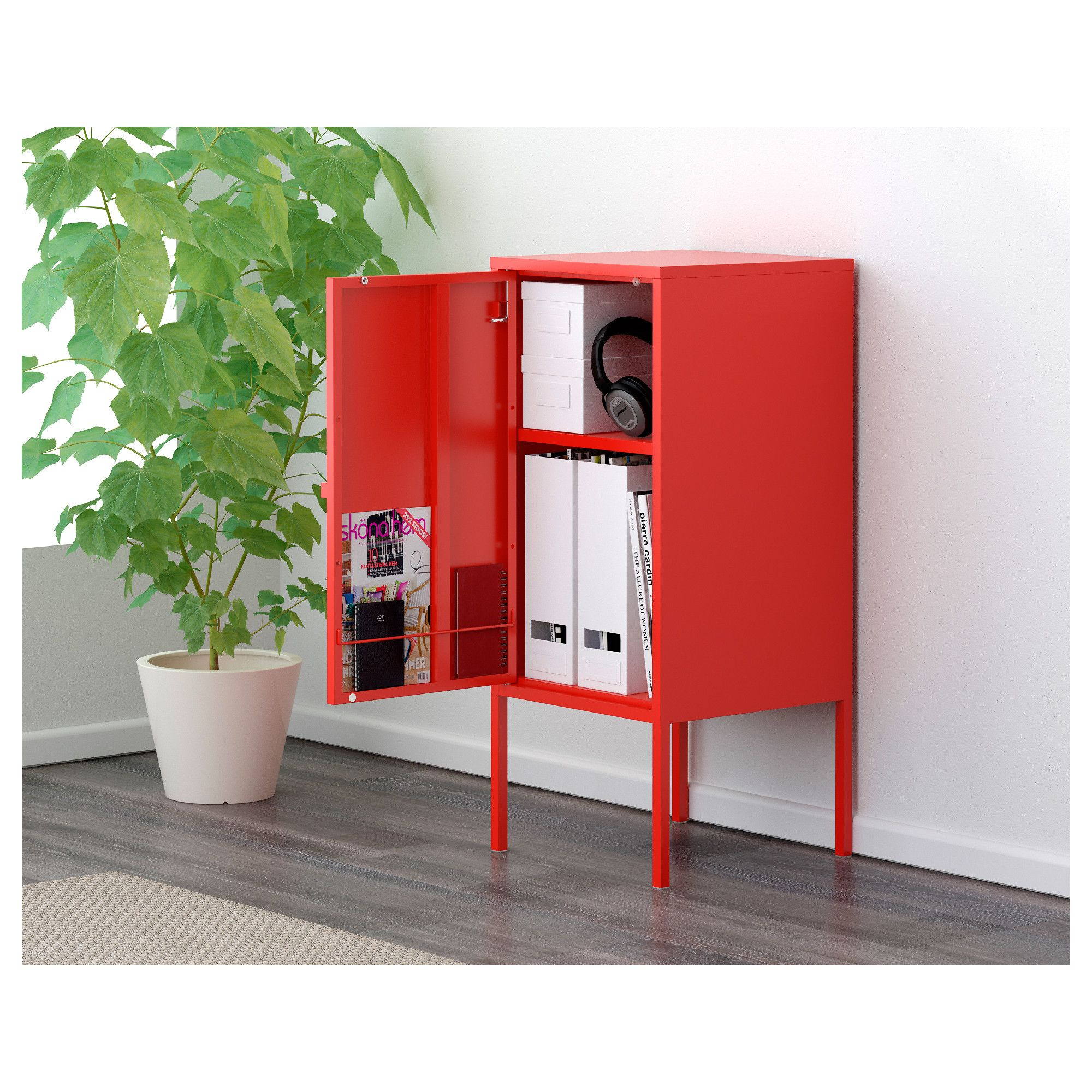 Lixhult Cabinet Metal Red Ikea - Lixhult Cabinet Metal, Red In 2019 | Products