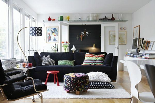 Wohnzimmer Schwarzes Sofa - sourcecrave.com -