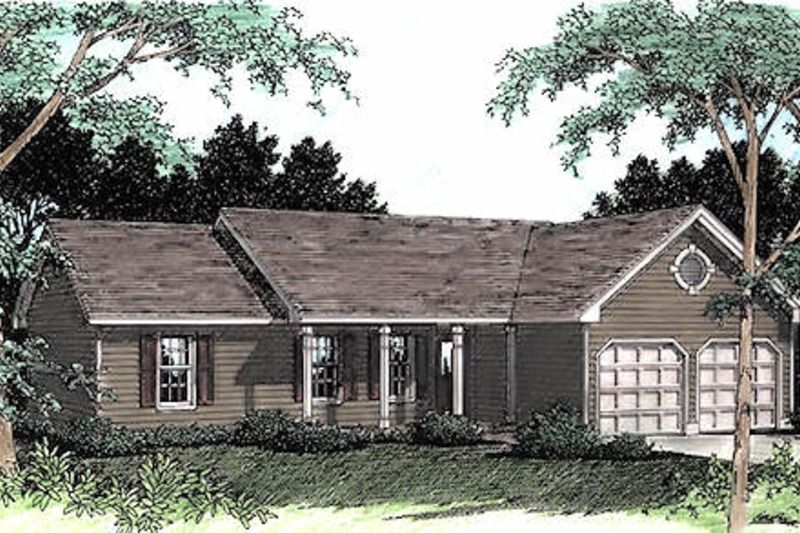 Ranch Style House Plan 3 Beds 2 Baths 1428 Sq Ft Plan 56 118 Ranch Style House Plans House Plans Ranch House Plans