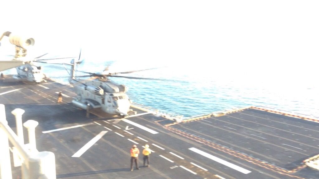 One of the big boys - CH53 on deck LHD 6 in TS 15