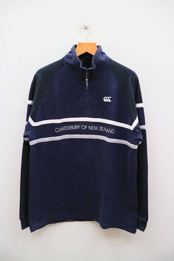 Vintage CANTERBURY Of New Zealand Sportswear Blue Sweater