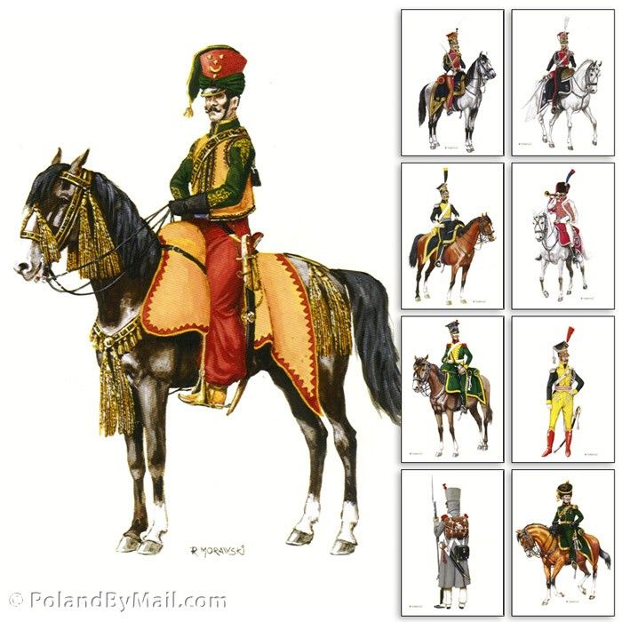 Postcards - Polish Napoleon Army Uniforms Series 5, Set 9