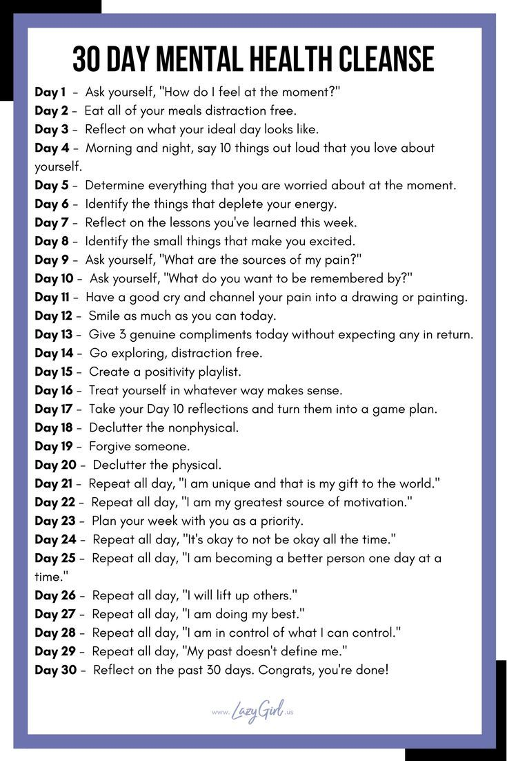 30 Day Mental Health Cleanse | Illustration inspiration ...